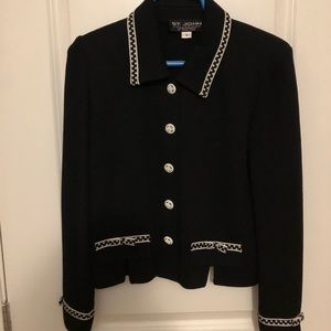 St. John black size 4 knit jacket